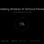 Ilustración 5 – Instalación de nuevo Build de Windows 10 (Fast Ring).