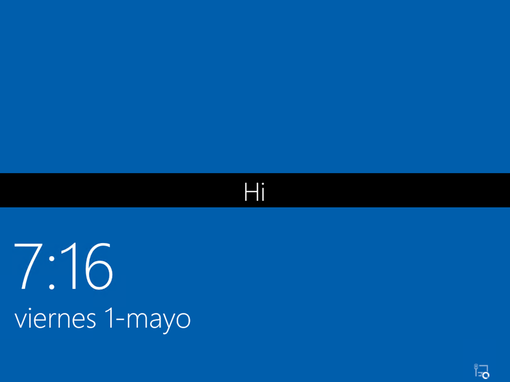 Ilustración 22 – Instalación de Windows 10 Build 10074. Primer inicio de sesión.