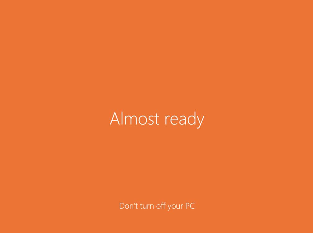 Ilustración 24 – Instalación de Windows 10 Build 10074. Primer inicio de sesión.