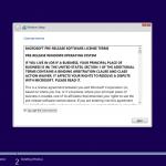 Ilustración 5 – Instalación de Windows 10 Build 10074. Aceptación de Términos y Condiciones.