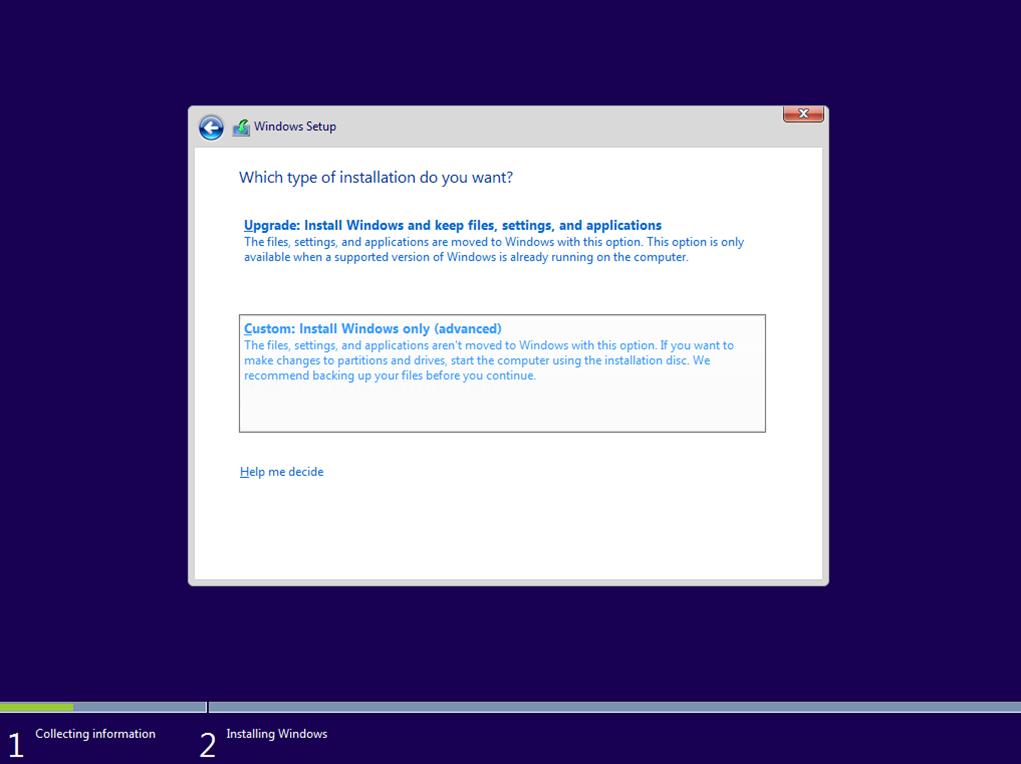 Ilustración 6 – Instalación de Windows 10 Build 10074. Instalación de Windows.