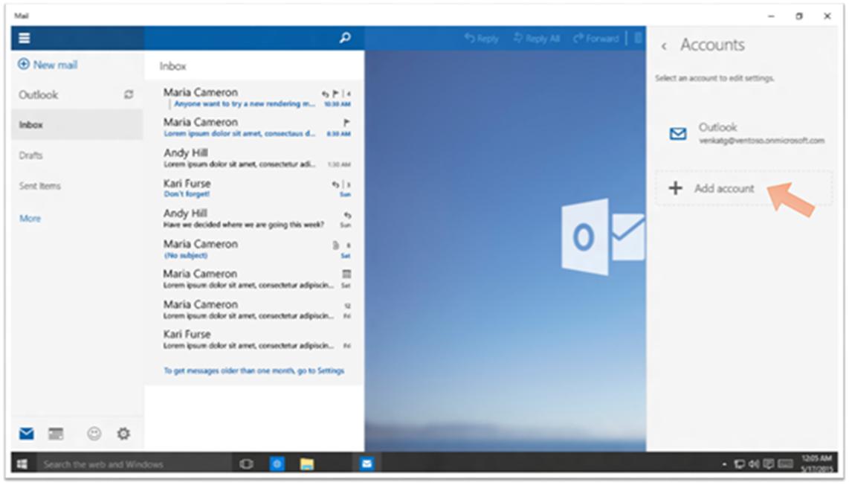 Ilustración 11 – Agregando una cuenta personal a nuestro equipo con Windows 10 que inicia sesión con una cuenta empresarial de Azure Active Directory.