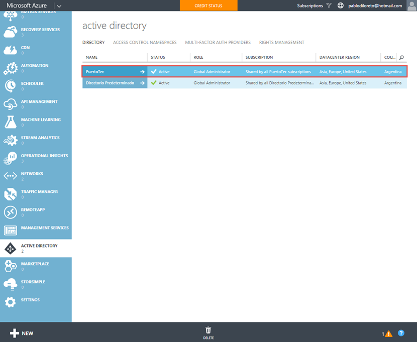 Ilustración 1 – Azure AD Join. Configuración de Directorio en Azure para aceptar registro de dispositivos.