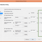 Ilustración 22 – Creación de Tarea de Backup en Azure Backup Agent de Windows Server. Configuración de Retención.
