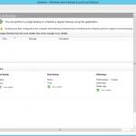"""Ilustración 5 – Instalación de Feature """"Windows Server Backup"""" en Windows Server 2012 R2. Consola de Windows Server Backup."""