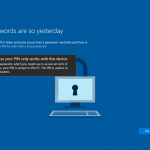 Ilustración 27 – Inicio de Sesión en Windows 10 Build 10130. Configuración de PIN.