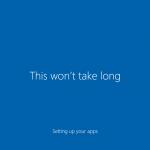 Ilustración 32 – Inicio de Sesión en Windows 10 Build 10130. Configuración inicial del perfil de usuario.