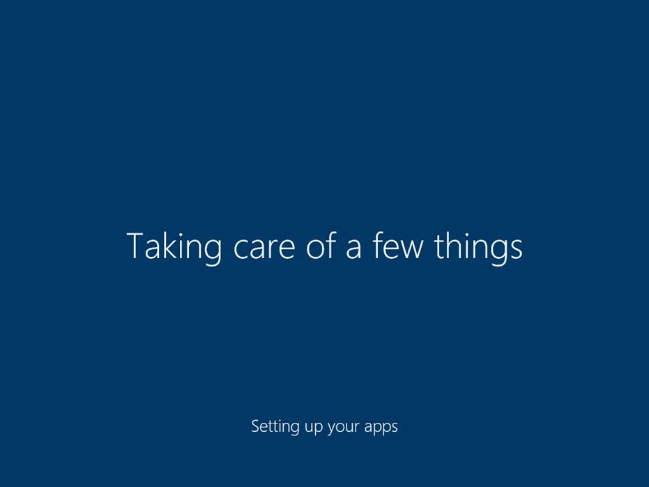 Ilustración 33 – Inicio de Sesión en Windows 10 Build 10130. Configuración inicial del perfil de usuario.