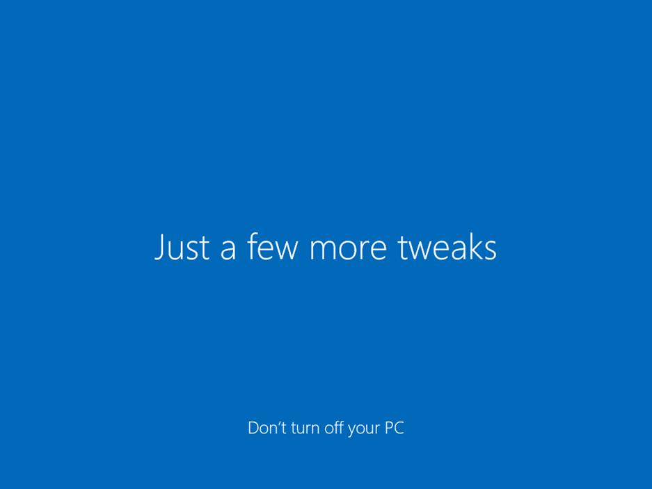 Ilustración 34 – Inicio de Sesión en Windows 10 Build 10130. Configuración inicial del perfil de usuario.