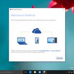Ilustración 37 – Inicio de Sesión en Windows 10 Build 10130. Configuración de OneDrive.