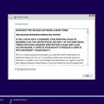 Ilustración 5 – Instalación de Windows 10 Build 10130. Aceptación de Términos y Condiciones.