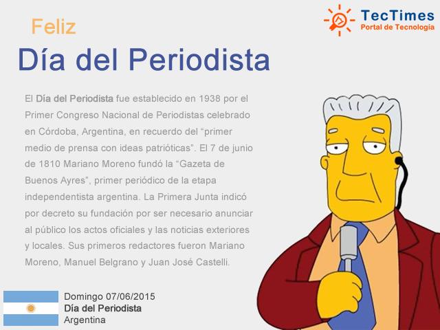 Dia del Periodista en la Argentina - 07/06/2015