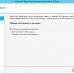 Ilustración 12 – Asistente para instalación del Proveedor de Azure Site Recovery en Hyper-V: configuración de Proxy.