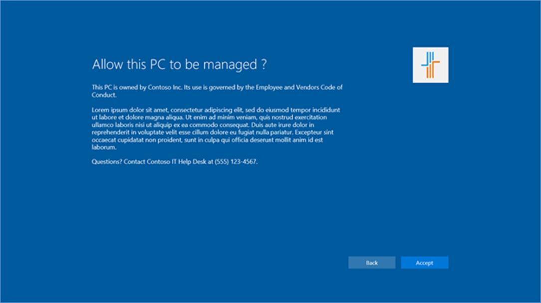 Ilustración 3 – Auto-registro del dispositivo con Windows 10 en Enterprise Mobility Suite / Microsoft Intune.