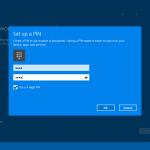 Ilustración 29 – Inicio de Sesión en Windows 10 Build 10130. Configuración de PIN.