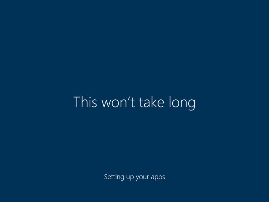 Ilustración 31 – Inicio de Sesión en Windows 10 Build 10130. Configuración inicial del perfil de usuario.
