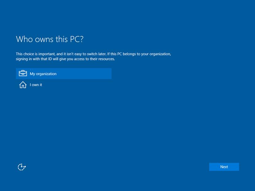 Ilustración 6 – Out-of-Box de Windows 10 en versión Pro.