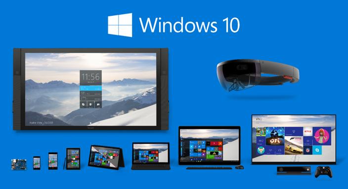"""Ilustración 1 – Grupos de dispositivos que forman parte de la familia de sistemas operativos Windows 10 disponibles en el mercado, incluyendo el nuevo """"HoloLens""""."""
