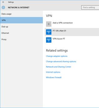 Ilustración 5 -Administración de Conexiones a Redes en Windows 10 Desktop.