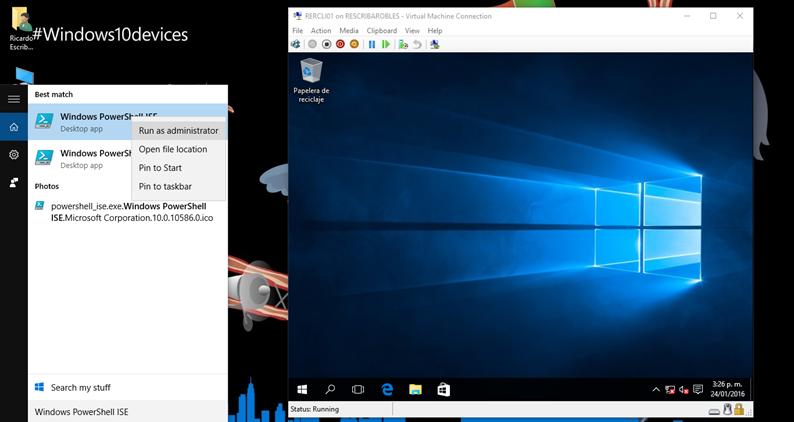 Ilustración 5 – Windows PowerShell ISE