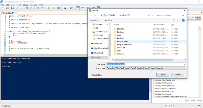 Ilustración 6 – Windows PowerShell ISE(2).png