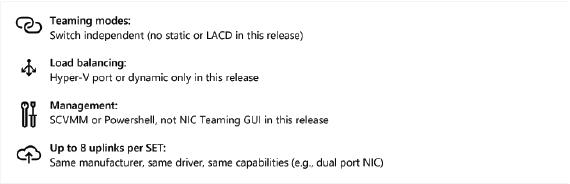 Switch Embedded Teaming en Windows Server