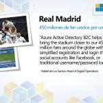 Real Madrid usando el Azure Active Directory B2C