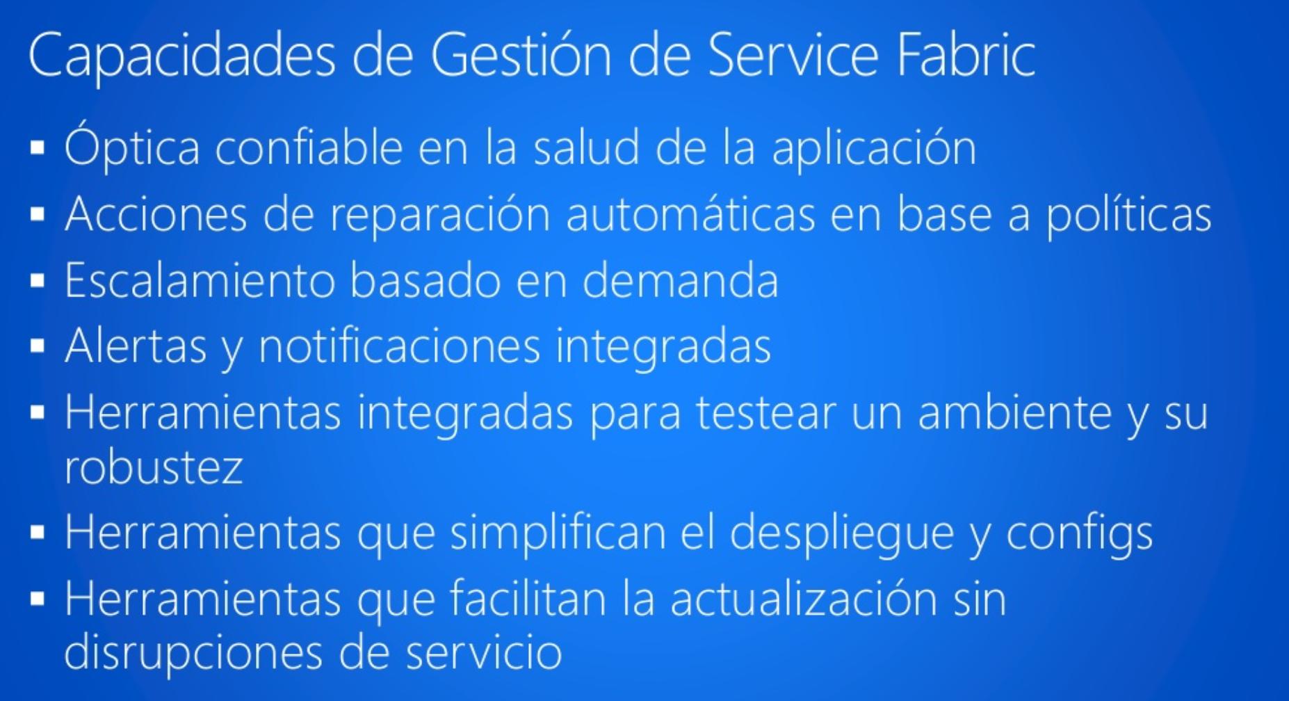 Azure Service Fabric | Capacidades